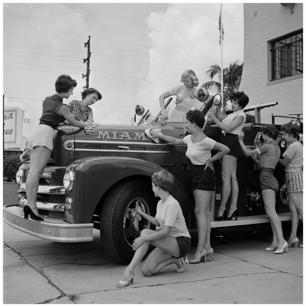Fire station in Miami Beach, Fla. 1955 Photo Bunny Yeager.jpg